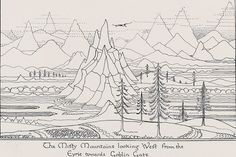 the Misty Mountains by Tolkien
