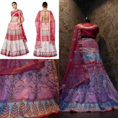 An exquisite, floral hued, digital printed lehenga with traditional machine embroidered, raw silk choli and a berry pink, bordered net dupatta.  Code : S1006 Title : The Paree Lehenga Choli & Dupatta. Size : Free Color : Pink Fabric : Raw Silk Type : Embroidered, Printed. Occasion : Festive, Wedding, Ceremony, Party Neck Type : Round Neck Sleeve Type : Short Sleeve Price : 2500 INR + Shipping For Order DM Or WhatsApp On +91 9054562754