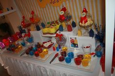 Idea: red Jello in plastic cups for dessert with picks in them Wiggles Birthday, Wiggles Party, The Wiggles, Twin Birthday, 2nd Birthday Parties, Birthday Ideas, Party Entertainment, Superhero Party, Childrens Party