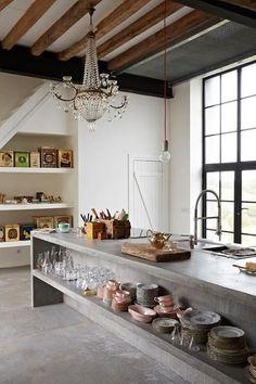 keuken kookeiland vintage design lovt loft