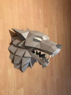 Stark Direwolf Papertrophy/Papercraft (Free Template)