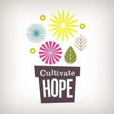 Cultivate Hope « The Tenfold Collective Blog #logo #graphic design #typography