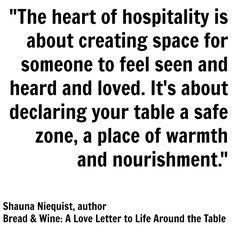 Shauna Niequist on hospitality