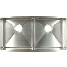 FrankeUSA Undermount Stainless Steel 35x18x9 Double Bowl Kitchen Sink-UDTD32/10 at The Home Depot