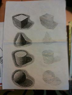 Schaduw tekenen met behulp van lijn tekenen brugklas pinterest met en tekenen - Schaduw maken ...
