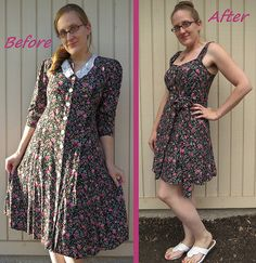 90s Floral Dress Refashion by CarissaKnits
