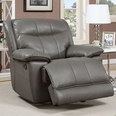 Furniture Of America Dolton Recliner Chair - CM6128GY-CH