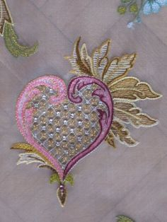 Embroidery from Lesage school;