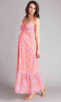 Seraphine Printed Maternity Maxi Dress