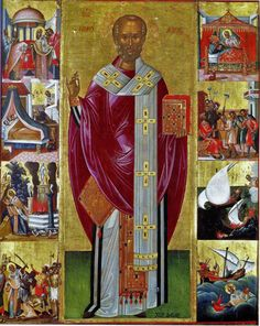 Russian Icons, Byzantine Art, Saint Nicholas, Religious Icons, Orthodox Icons, Saints, Projects To Try, Christian, Painting
