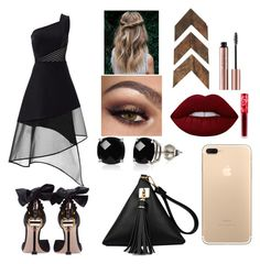"""""""Date night💋"""" by madison-m-g on Polyvore featuring David Koma, Miu Miu, Belk & Co. and Lime Crime"""