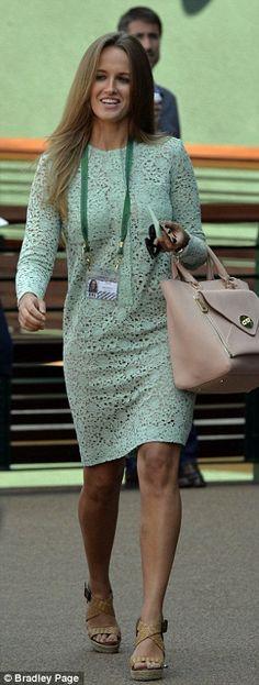 Kim Sears in Victoria Beckham.