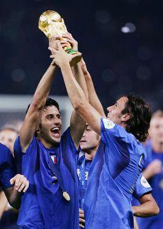 trionfo della nazionale italiana ai mondiali di calcio Berlino 2006.