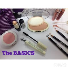 """BASIC NATURAL MAKEUP. This miniset of """"the Basics"""" by ELLA Cosmetics includes: 1 concealer, 1 foundation powder ultralight, 1 fresh blush, 1 mascara false lashes effect, 2 eye liner, 1 universal lip contour pencil and 2 flossy and sweet lip gloss. http://www.ellacosmetics.es/make-up.html"""