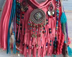 Boho inspired, eclectic pieces of wearable art. Beaded Purses, Beaded Bags, Hippie Bohemian, Boho, Fringe Bags, Handmade Handbags, Bead Crafts, Wearable Art, Career