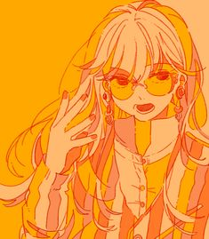 Aesthetic Drawing, Aesthetic Art, Aesthetic Anime, Orange Art, Yellow Art, Pretty Art, Cute Art, Animated Icons, Orange Aesthetic