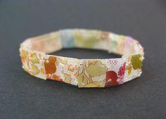 child's colorful shrink plastic bracelet