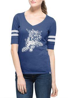 '47 Kentucky Womens Blue Flanker Stripe V-Neck