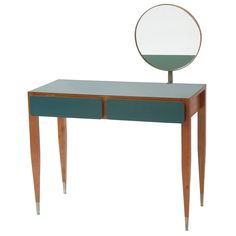 Important Gio Ponti Vanity from Hotel Parco Dei Principi, Roma, 1964 | From a unique collection of antique and modern desks and writing tables at https://www.1stdibs.com/furniture/tables/desks-writing-tables/