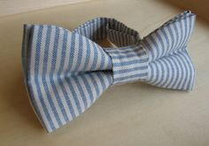 children's blue bow tie boys blue bow tie ring bear tie kids stripe bow tie christening child gift groomsman groom tie father son bow tie by KoppSHOPP on Etsy
