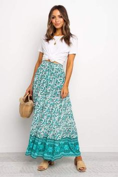 Back in Stock - Petal & Pup Maxi Skirt Outfit Summer, Maxi Skirt Outfits, Midi Skirts, Boho Skirts, Cute Skirts, Modest Outfits, Boho Outfits, Modest Fashion, Skirt Fashion