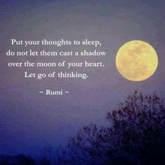 Let go..... And sleep