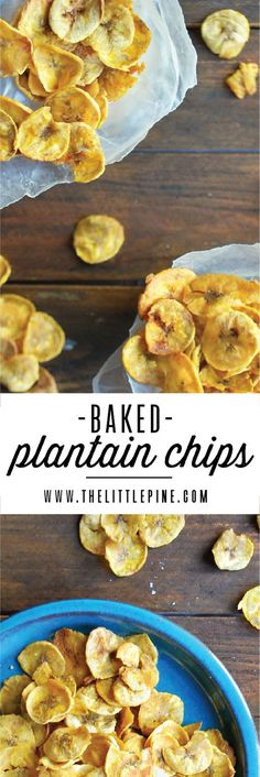 Baked Plantain Chips - Your new favorite, not-so-guilty pleasure!