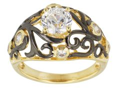 Remy Rotenier For Bella Luce(R) Eterno(Tm) Yellow & Black Rhod Over Silver Ring (1.27ctw Dew)