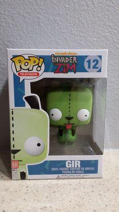Funko Pop Television #12 Invader Zim! Gir! Vinyl Figure! Hot Topic Exclusive HTF #Funko