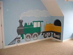 Boys Bedroom Train Theme Train Theme Bedrooms, Boys Train Bedroom, Train  Nursery, Train