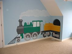 Boys Bedroom Train Theme