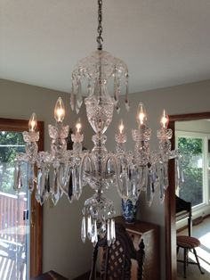 Waterford Crystal 1970 S Avoca 6 Arm Chandelier