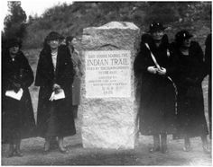 Ute Pass Indian Trail Marker ~ Manitou Springs Colorado ~ 1935