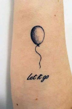 Let it go black balloon tattoo, Balloons tattoos Mini Tattoos, Red Flower Tattoos, Feather Tattoos, Body Art Tattoos, Small Tattoos, Tatoos, Stomach Tattoos, Cat Tattoos, Girly Tattoos