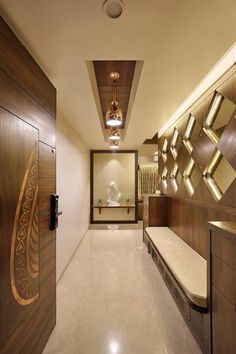 home entrance lobby design ideas - Internal Home Design Main Door Design, Entry Way Design, Foyer Design, Lobby Design, Entrance Design, House Design, Wall Design, Home Entrance Decor, House Entrance