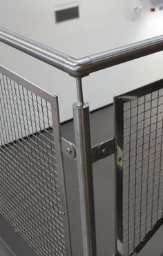 Corner Concord S843-2 architectural mesh balustrade panels at Medway UTC
