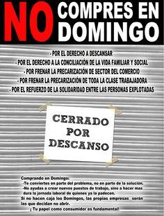 No compres en Domingo. por la conciliación de la vida Laboral y Familiar  en el sector de comercio #NoCompresenDomingo