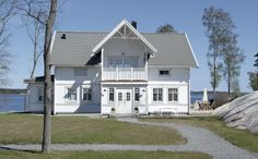 Tranan New England Homes, England Houses, Swedish House, Outdoor Gardens, Sweet Home, Shed, Wooden Houses, Outdoor Structures, Mansions