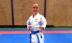 Van Lokven Samantha from SPORTSCHOOL RAYMOND SNEL Inoue-Ha Shito-Ryu Netherlands vins gold senior kata and U21. Grolleman Marianne vins silver U18.