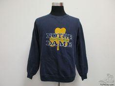 Vtg 90s Russell Notre Dame ND Fighting Irish Sweatshirt sz L Large NCAA Football #Russell #NotreDameFightingIrish