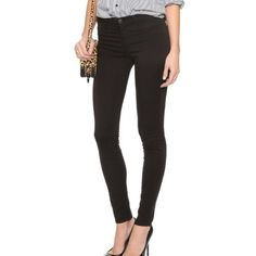 J BRAND 485 LUXE SATEEN SUPER SKINNY J Brand Luxe Sateen Super Skinny in Black. Mid-Rise. Fabric: Soft stretch weave. 61% lyocell/36% cotton/3% elastane. Comes with J Brand garment bag. J Brand Pants Skinny