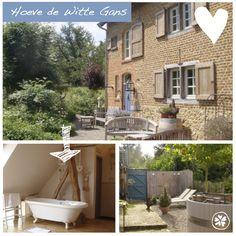 Adresje van de week: Hoeve de Witte Gans in Voeren (net over de grens Belgie). Erg leuk adresje voor een romantisch weekendje met z'n twee. Met sauna, hottub en een wellnessruimte. Er is zelfs een verblijf met privé bioscoop