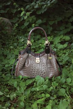 The Elisa Hobo in Osprey Tri-Texture | Shop at www.brahmin.com