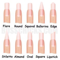 Can't Decide What Nail Shape To Get? Well Here Are Some Shapes That May Interest You  #Fashion #Beauty #Trusper #Tip