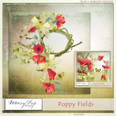 Oscraps :: Shop by Category :: Freebies :: Poppy fields Quickpage freebie