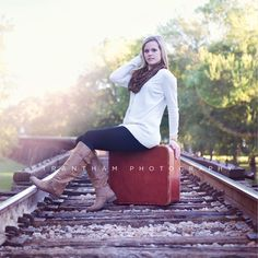 Girl Senior Pictures Railroad» Trantham Photography