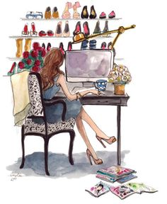 Illustration done for Cameo PR by artist Inslee Haynes Art And Illustration, Watercolor Illustration, Arte Fashion, Fashion News, Fashion Models, Fashion Editor, Fashion Fashion, Fashion Beauty, Fashion Trends