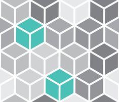 geometric pattern blue - Google Search