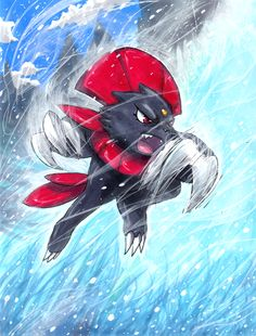 Weavile used Blizzard! by matsuyama-takeshi.deviantart.com on @deviantART