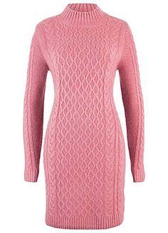 A warm jumper dress with a classic knit pattern. 75% Acrylic, 22% 4f72bb77e49